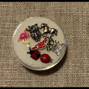 Origami Owl assorted floating charms critters